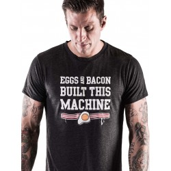 T-shirt Homme Noir Eggs & Bacon pour CrossFiteur - NORTHERN SPIRIT