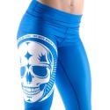 Legging bleu Femme Crossfit  - Big Skull