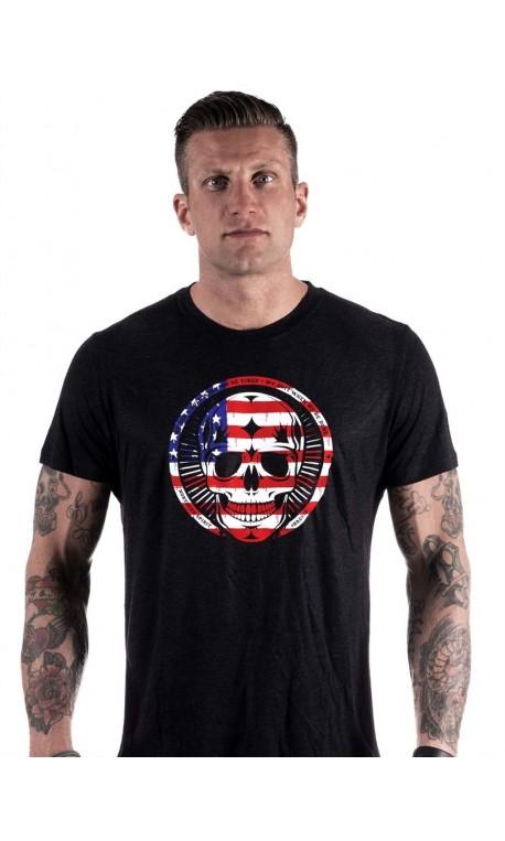 T-Shirt Homme sport - Black Tee American Skull