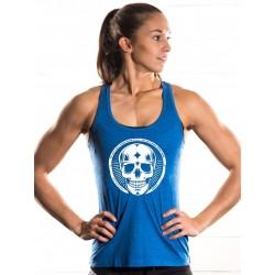 Boutique Débardeur Bleu Femme entraînement - White Skull