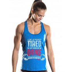 Débardeur Femme Bleu We Dont Quit pour CrossFiteuse - NORTHERN SPIRIT