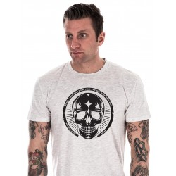 T-shirt Crossfit Northern Spirit - White Tee Black Skull