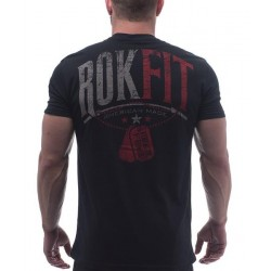 T-shirt black Strengh and Honor for men - ROKFIT