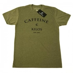 T-shirt Athlète Homme Caffeine and Kilos - Logo T OD green