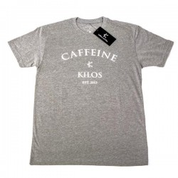 T-shirt grey Logo T for men - CAFFEINE AND KILOS