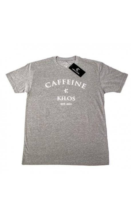 T-shirt Crossfit Homme Caffeine and Kilos - Logo T Grey