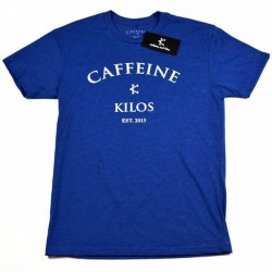 T-shirt blue Logo T for men - CAFFEINE AND KILOS