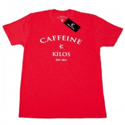 T-shirt red Logo T for men - CAFFEINE AND KILOS
