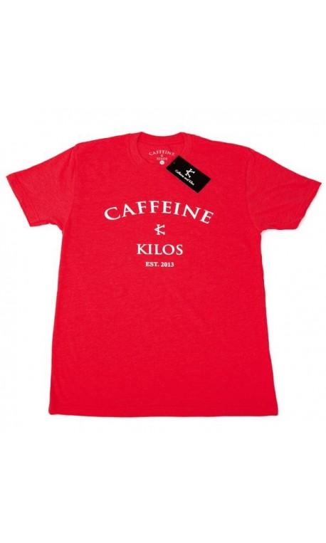T-shirt Crossfit Homme Caffeine and Kilos - Logo T Rouge