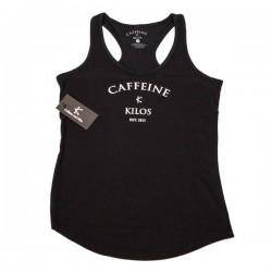 Débardeur sport Femme Caffeine and Kilos - Noir