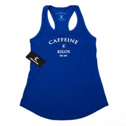 Training tank blue for women - CAFFEINE AND KILOS