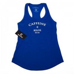 Débardeur Femme Bleu pour CrossFiteuse - CAFFEINE & KILOS