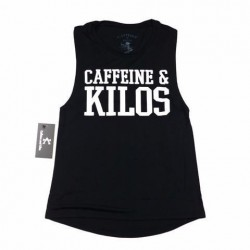 Training muscle tank black for women - CAFFEINE AND KILOS