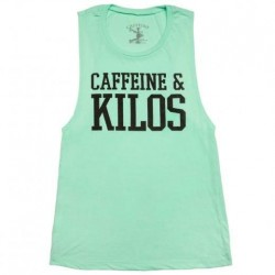 Training muscle tank mint for women - CAFFEINE AND KILOS