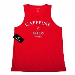 Débardeur large Homme Rouge pour Athlète - CAFFEINE & KILOS