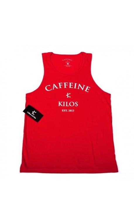 Débardeur Crossfit Homme Caffeine and Kilos - Red