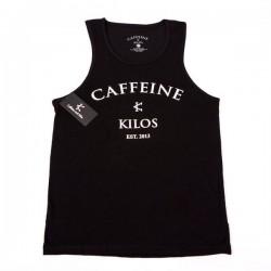 Débardeur Crossfit Homme Caffeine and Kilos - Black