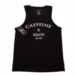 Débardeur Crossfit Homme Caffeine and Kilos - Black