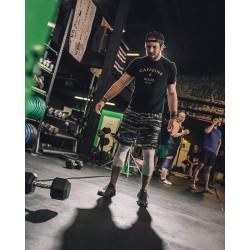 T-shirt Homme noir pour Athlète - CAFFEINE & KILOS
