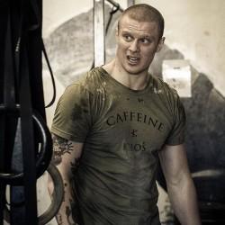 T-shirt Homme Vert pour Athlète - CAFFEINE & KILOS