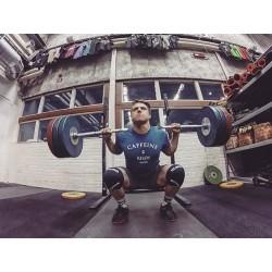 T-shirt Homme Bleu pour CrossFiteur - CAFFEINE & KILOS