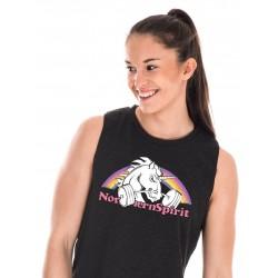 Muscle tank Femme Noir Licorne pour Athlète - NORTHERN SPIRIT