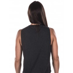 Woman black muscle tank Look Pretty for athlete - NORTHERN SPIRIT