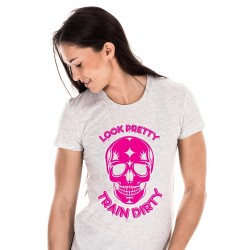 Boutique T-Shirt blanc Femme Crossfit - Pretty Rose