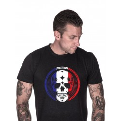 T-shirt black french skull for men - NORTHERN SPIRIT