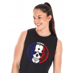 Muscle tank Femme Noir French Skull pour Athlète - NORTHERN SPIRIT