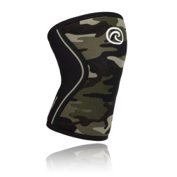 7 mm pair of Knee Sleeves Green Camo - REHBAND