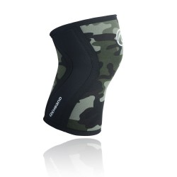 5 mm pair of Knee Sleeves Green Camo - REHBAND