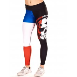 Legging Femme Multicolor French Skull pour Athlète - NORTHERN SPIRIT