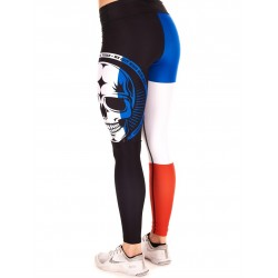 Legging Femme Multicolor French Skull pour Athlète - NORTHERN SPIRIT