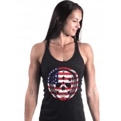 Boutique Débardeur Noir Femme entraînement - American Skull