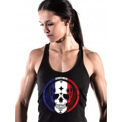 Training tank black FRENCH SKULL for women - NORTHERN SPIRIT
