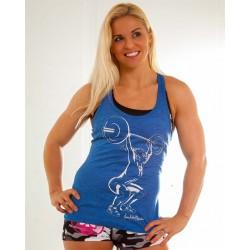 Boutique Débardeur Bleu Femme Crossfit - Anna Hulda