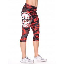 Boutique Legging mi-long Femme Crossfit - Camo rouge