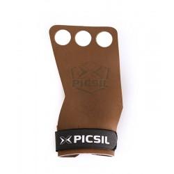 Maniques de Marron XStrong grips 3 cuir pour CrossFiteur - PICSIL