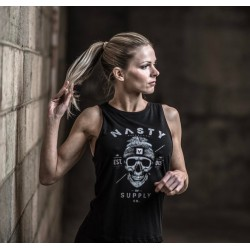 Débardeur Femme Noir Skull pour CrossFiteuse - NASTY