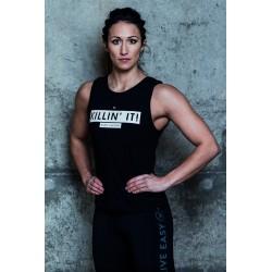 Muscle tank Femme Noir Killin'it pour Athlète - NASTY