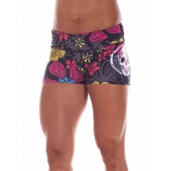 Boutique Short multicolor Femme sport- Automne Big Skull