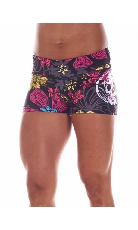 Boutique Short multicolor Femme sport- Automne Big Skull