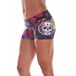 Short Femme Violet Autumn Skull pour CrossFiteuse - NORTHERN SPIRIT
