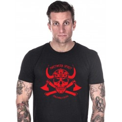 T-shirt black red viking for men - NORTHERN SPIRIT