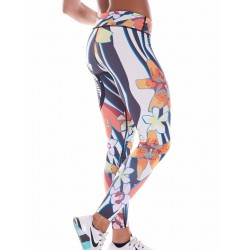 Legging Femme Multicolor Exotic Flower Skull pour Athlète - NORTHERN SPIRIT