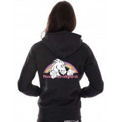 Sweat Femme Gris Licorne pour CrossFiteuse - NORTHERN SPIRIT