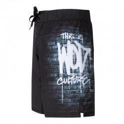 Training short black WOD CULTURE for men - XOOM PROJECT