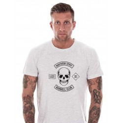 T-shirt Homme Blanc Barbell Club pour CrossFiteur - NORTHERN SPIRIT