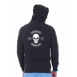 Sweat sport Homme Gris Barbell Skull NORTHERN SPIRIT